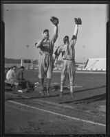"Art ""Tillie"" Shafer and Zeb Terry at Gilmore Stadium, Los Angeles, 1936"