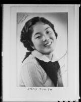 Japanese-American student Emmy Sumida, Los Angeles, 1936