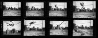 Trojan Delos Thurber at Bovard Field at USC, Los Angeles, 1936
