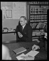 W. C. Buchanan delivers his testimony in court, Ontario, 1936