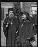 Archbishop Athenagoras and Rev. Germanos Papanagiotou, Los Angeles, 1936