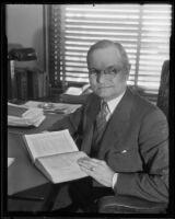 Public Defender Frederic H. Vercoe, Los Angeles, 1936