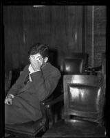 Dr. John E. Cummings is accused of manslaughter, Los Angeles, 1936