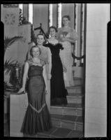 Hollywood Opera Reading Club members Paula Hotchkin, Nelda Olsen, Emily Dorette Sullivan and Mrs.  Robert W. Yates, Los Angeles, 1936