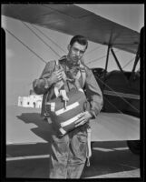 Parachute jumper Stanley Lewis, Alhambra, 1936