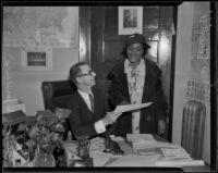 Archbishop Charles Kelso with Reverend Ellie B. Deans, Los Angeles, 1936