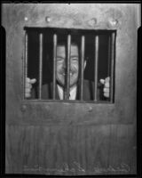 Andrew Schwarzman is apprehended for disturbing the peace, Los Angeles, 1936