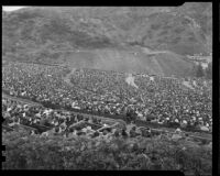 Audience at the Hollywood Bowl for Easter morning services, Los Angeles, 1936