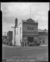 Old fire station before it is torn down, Pasadena, 1936