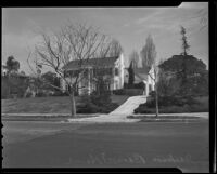 Jackson Barnett's home in Hancock Park, Los Angeles, 1936