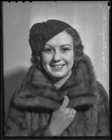 Barbara Hallam Clampitt, formerly Mrs. Barbara Clampitt Morrison, Los Angeles, 1936