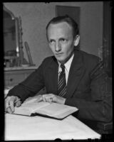 Prince Kurt Bernhard reads a book, Los Angeles, 1936