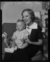Actress Marian Nixon and her newly adopted son Christopher, Los Angeles, 1936