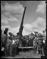 Anti-aircraft artillery on Army Day at Fort MacArthur, San Pedro, 1936