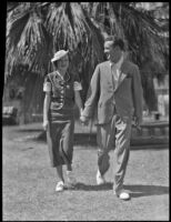 Evelune Hall and her fiance Allister MacIver Campbell, Palm Springs, 1936