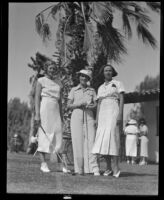 Marie Ross, Mrs. Mel Jackson, and Edith MacKenna, Palm Springs, 1936