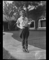 Children's Riding Club member Sylvia Morton, Arcadia, 1936