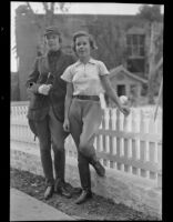 Members of the Children's Riding Club Ethlyn Dulin and Anne Baer, Arcadia, 1936