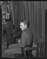 Willard James Turntine in custody, Los Angeles, 1936