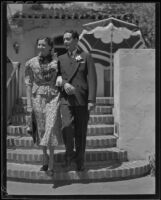Mr. and Mrs. Arthur and Louise Rolapp, Santa Barbara, 1936