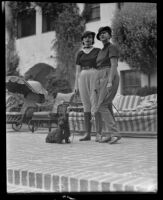 Elaine Barrie and her mother Edna Jacobs at the Biltmore, Santa Barbara, 1936