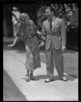 Newlyweds Le Roy Prinz and Betty Bryson, Los Angeles, 1936