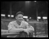 Frank Shellenback at Wrigley Field, Los Angeles, 1936