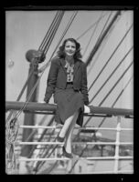 Australian actress Mary McGuire, Los Angeles, 1936