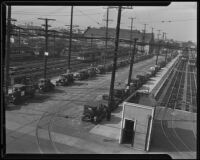 Los Angeles Railway division 4 yard, Downtown Los Angeles, 1934