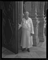 Alice Richardson at the Mission Inn, Riverside, 1936