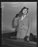 Elinor Fair divorces husband Thomas W. Daniels, Los Angeles, 1936