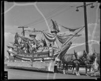 Cabrillo pageant float at Los Angeles County Fair, Pomona, 1936