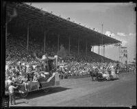 Parade floats at the Los Angeles County Fair, Pomona, 1936