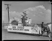 San Diego parade float at the Los Angeles County Fair, Pomona, 1936