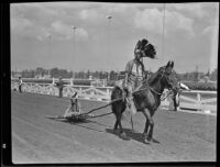 Native people in a parade at the Los Angeles County Fair, Pomona, 1936