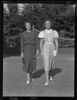 Mary Craig and Moira Langton on vacation, Santa Barbara, 1936