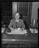 Mayor William C. Evans beat E.B. Criddle for the position, Riverside, 1936
