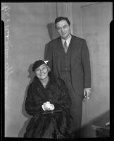 Mr. and Mrs. Walter Lippmann, Los Angeles, 1936