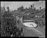 Laguna Beach float at Tournament of Roses Parade, Pasadena, 1939