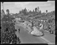 Oakland float at the Tournament of Roses Parade, January, 1939