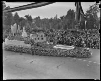 Metropolitan Water District float at Tournament of Roses Parade, Pasadena, 1939