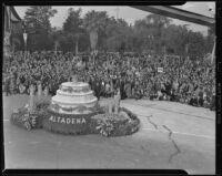 Altadena parade float at the Tournament of Roses Parade, Pasadena, 1939