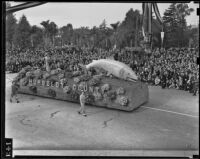 Humboldt County float at the Tournament of Roses Parade, Pasadena, 1939