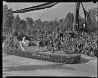 City of Los Angeles float at Tournament of Roses Parade, Pasadena, 1939