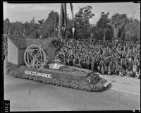 San Fernando float at the Tournament of Roses Parade, Pasadena, 1939