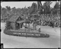 City of Portland float at the Tournament of Roses Parade, Pasadena, 1939