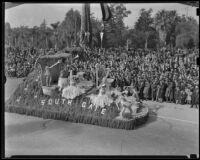 South Gate float at the Tournament of Roses Parade, Pasadena, 1939
