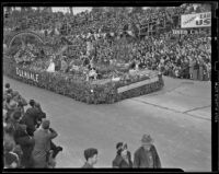 "Glendale's ""Garden of Memory"" float at the Tournament of Roses Parade, Pasadena, 1939"