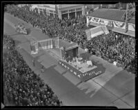 Ventura Chamber parade float at the Tournament of Roses Parade, Pasadena, 1939
