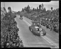 Boy Scouts of America float at the Tournament of Roses Parade, Pasadena, 1939